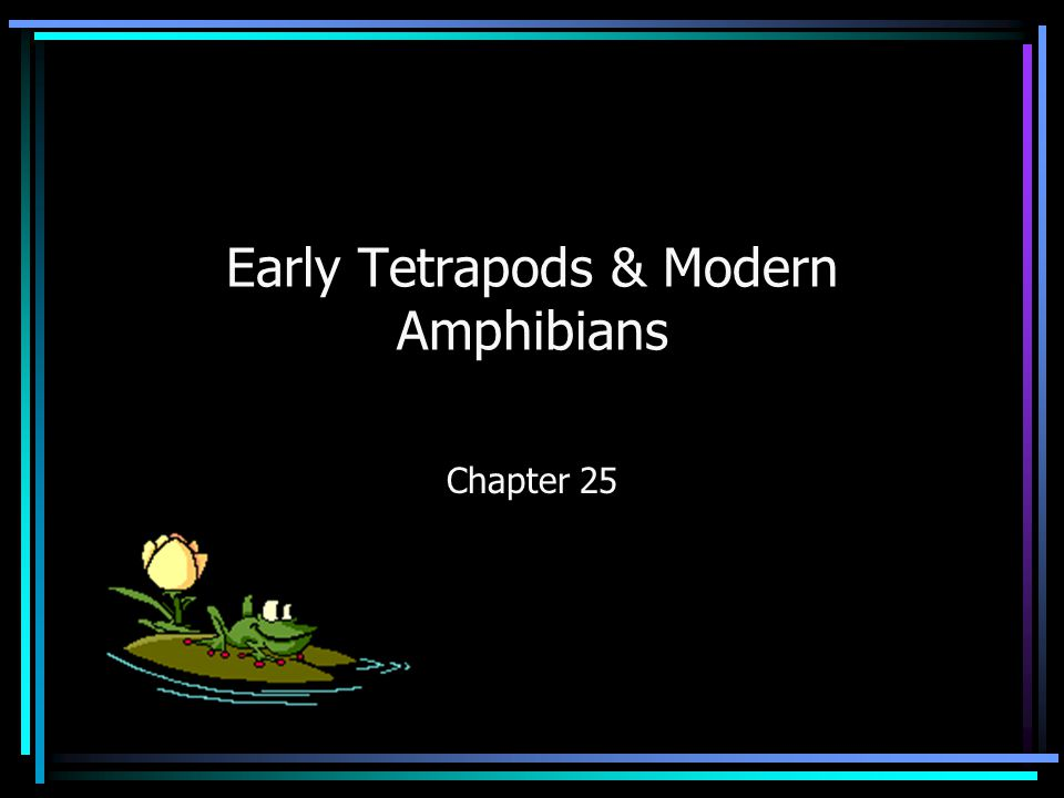 Early Tetrapods & Modern Amphibians Chapter 25