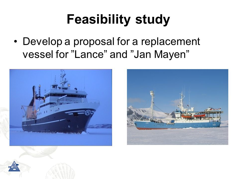 Renewal-plan for Norwegian RVs, dated March 2006 Proposal for an icegoing RV, dated Juni 2007 Parliament funding for feasibility study, December 2007 Background