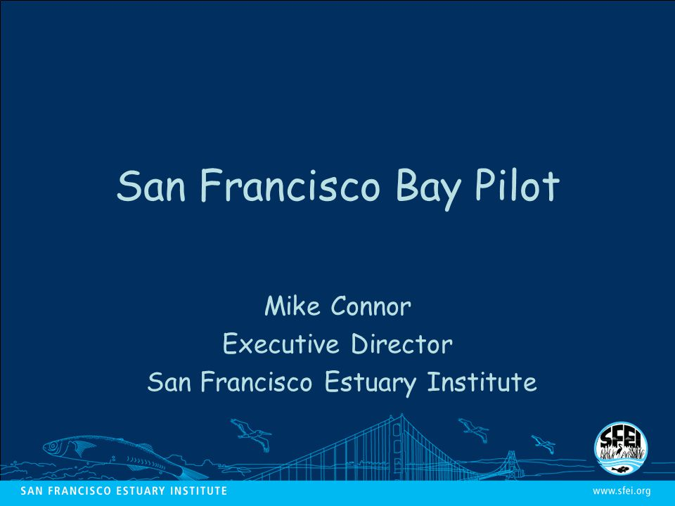 San Francisco Bay Pilot Mike Connor Executive Director San Francisco Estuary Institute