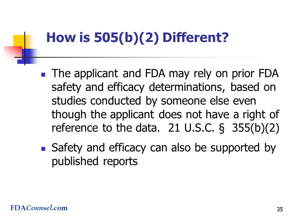 35 How is 505(b)(2) Different.