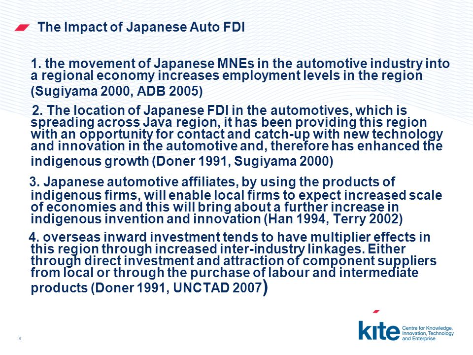 9 Technology Transfer to Knowledge Transfer: Learning Aspect From Knowledge Network In the Automotive Sector In line with Japanese understanding of knowledge as primarily 'tacit'–something not easily visible and expressible; hence, most of the Japanese automakers segment tacit knowledge into two dimensions (Mito 1990, Nonaka & Takeuchi 1995).