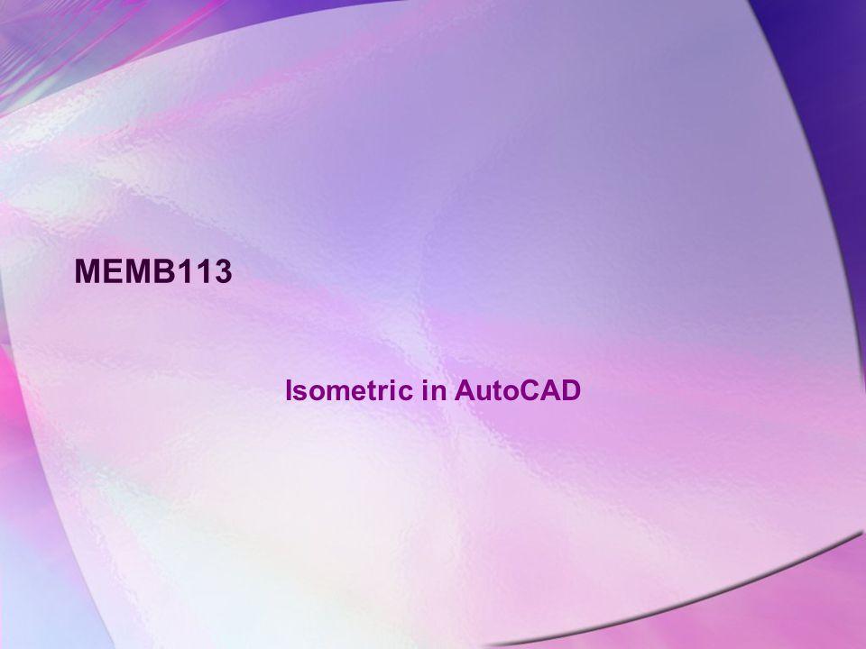 MEMB113 Isometric in AutoCAD
