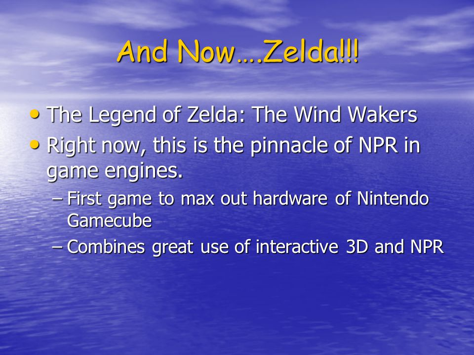And Now….Zelda!!.