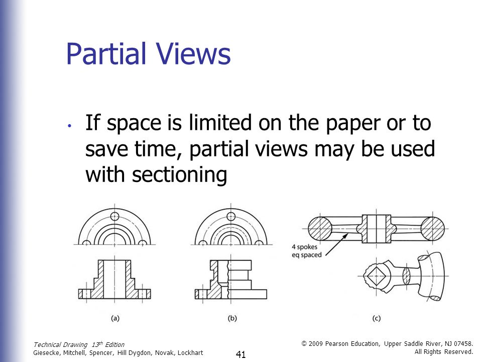 41 Technical Drawing 13 th Edition Giesecke, Mitchell, Spencer, Hill Dygdon, Novak, Lockhart © 2009 Pearson Education, Upper Saddle River, NJ 07458.