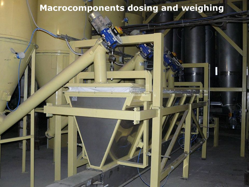 Macrocomponents dosing and weighing