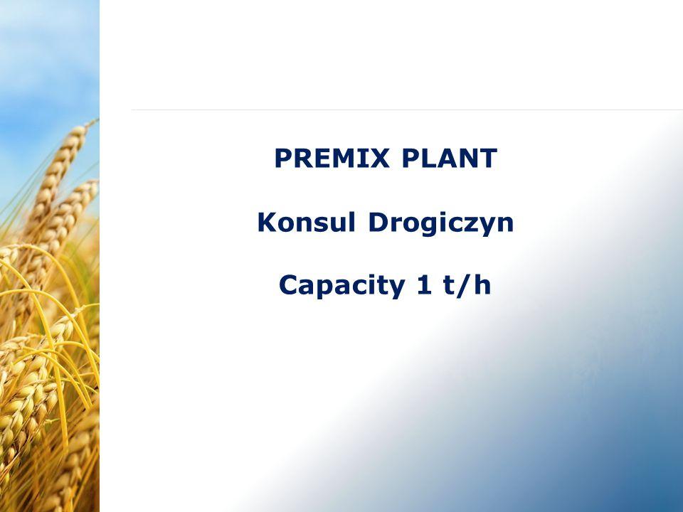PREMIX PLANT Konsul Drogiczyn Capacity 1 t/h