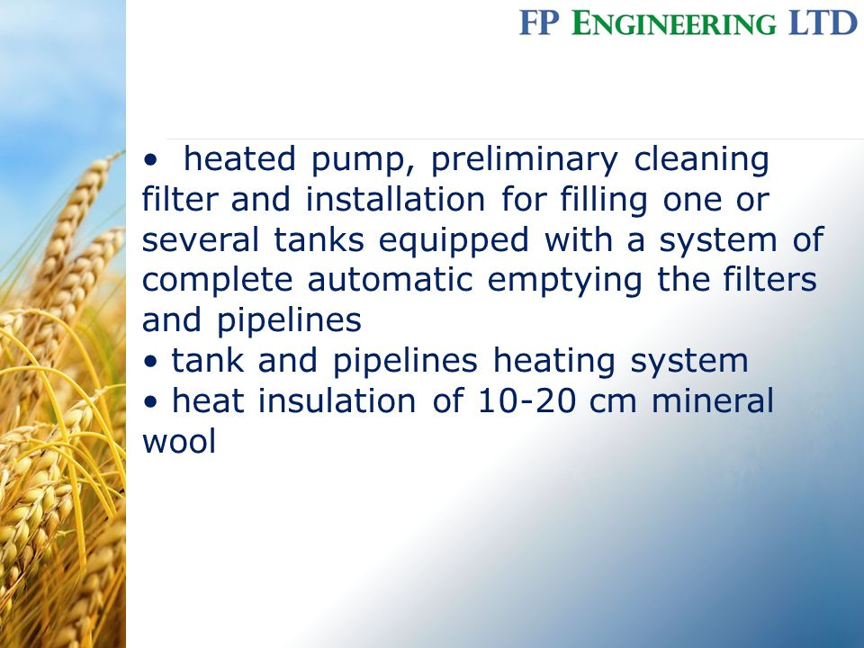 heated pump, preliminary cleaning filter and installation for filling one or several tanks equipped with a system of complete automatic emptying the f
