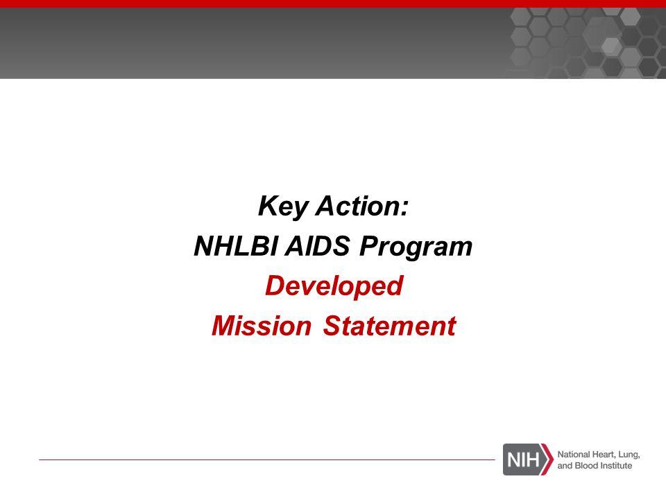 Key Action: NHLBI AIDS Program Developed Mission Statement