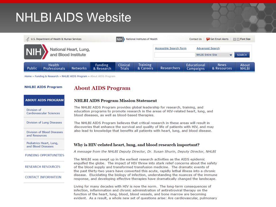 NHLBI AIDS Website