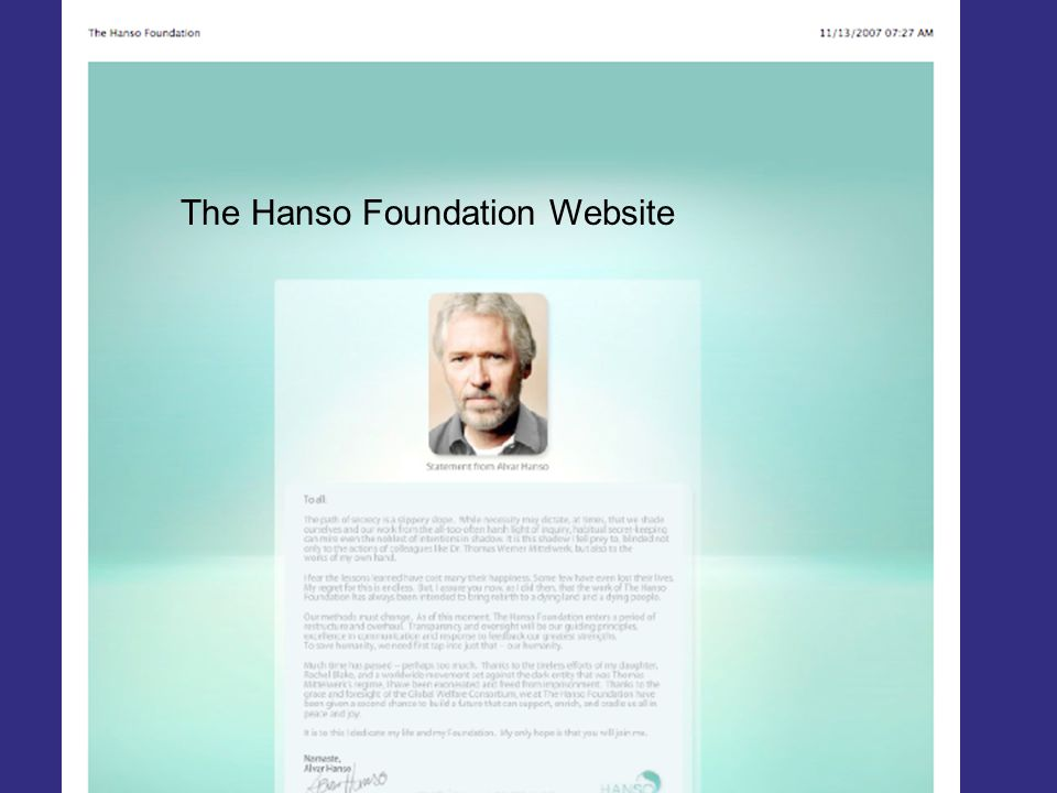 The Magic Box The Hanso Foundation Website