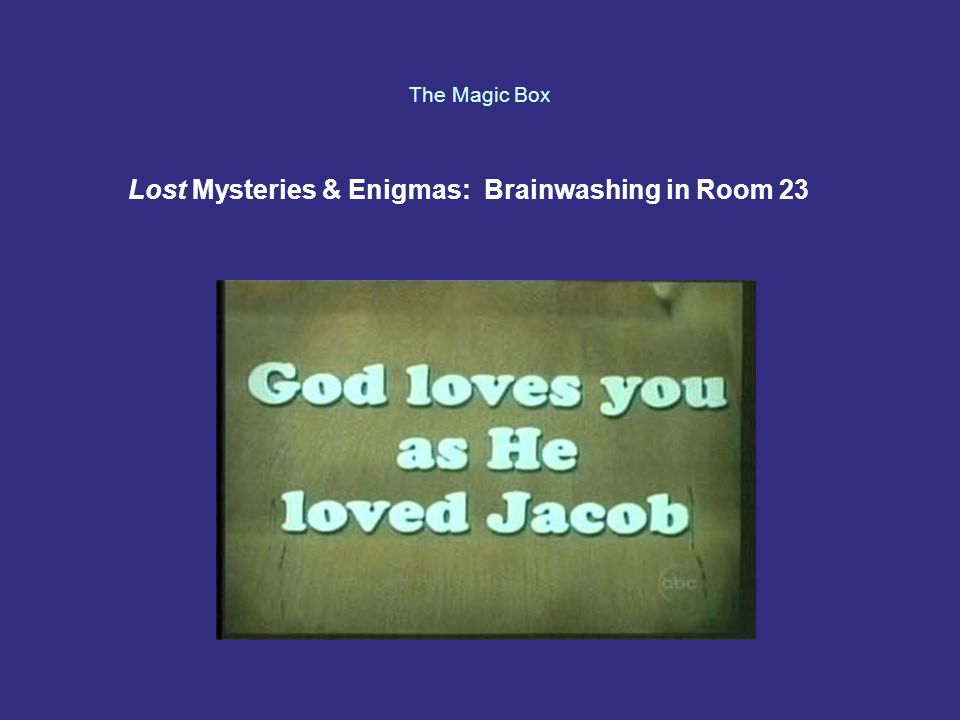 The Magic Box Lost Mysteries & Enigmas: Brainwashing in Room 23