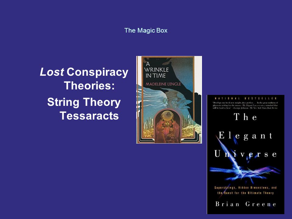 The Magic Box Lost Conspiracy Theories: String Theory Tessaracts