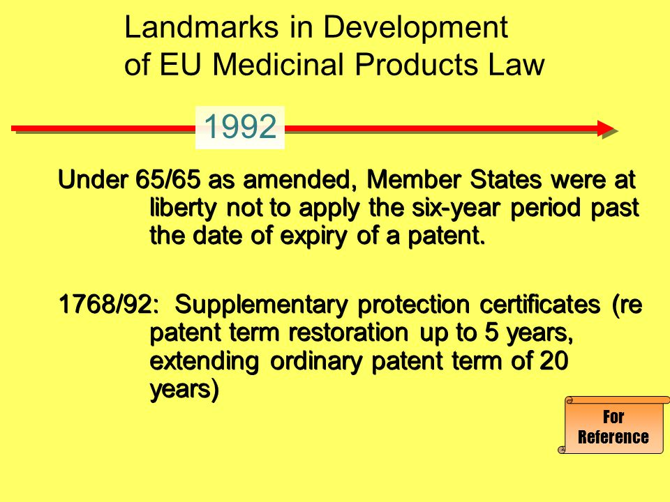 World Trade Organization Agreement on Trade- Related Intellectual Property Rights Article 39.3 protection for undisclosed data, including trade secrets World Trade Organization Agreement on Trade- Related Intellectual Property Rights Article 39.3 protection for undisclosed data, including trade secrets 1993 Landmarks in Development of EU Medicinal Products Law For Reference