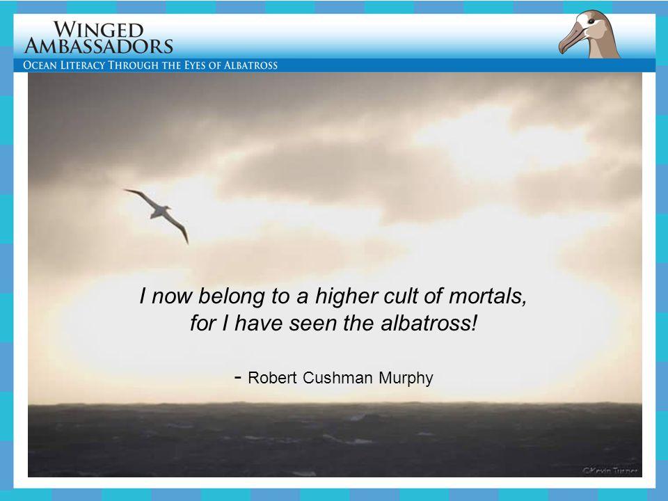 I now belong to a higher cult of mortals, for I have seen the albatross! - Robert Cushman Murphy
