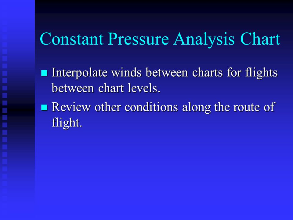 Constant Pressure Analysis Chart Interpolate winds between charts for flights between chart levels. Interpolate winds between charts for flights betwe