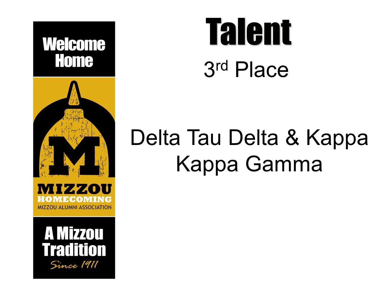 Talent 3 rd Place Delta Tau Delta & Kappa Kappa Gamma