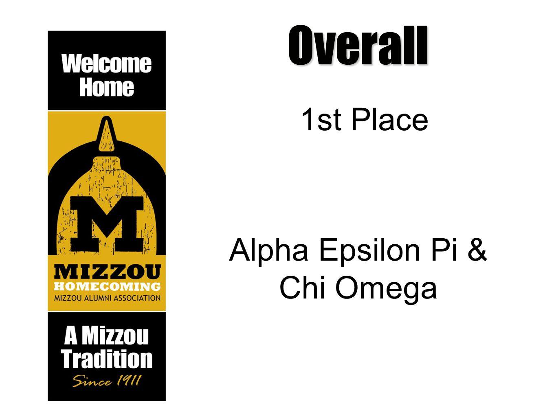Overall 1st Place Alpha Epsilon Pi & Chi Omega