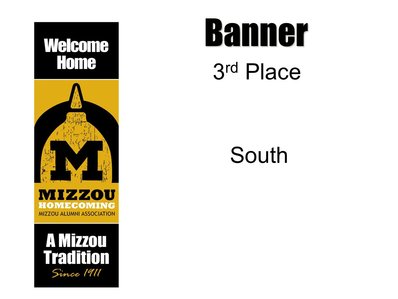 Banner 3 rd Place South