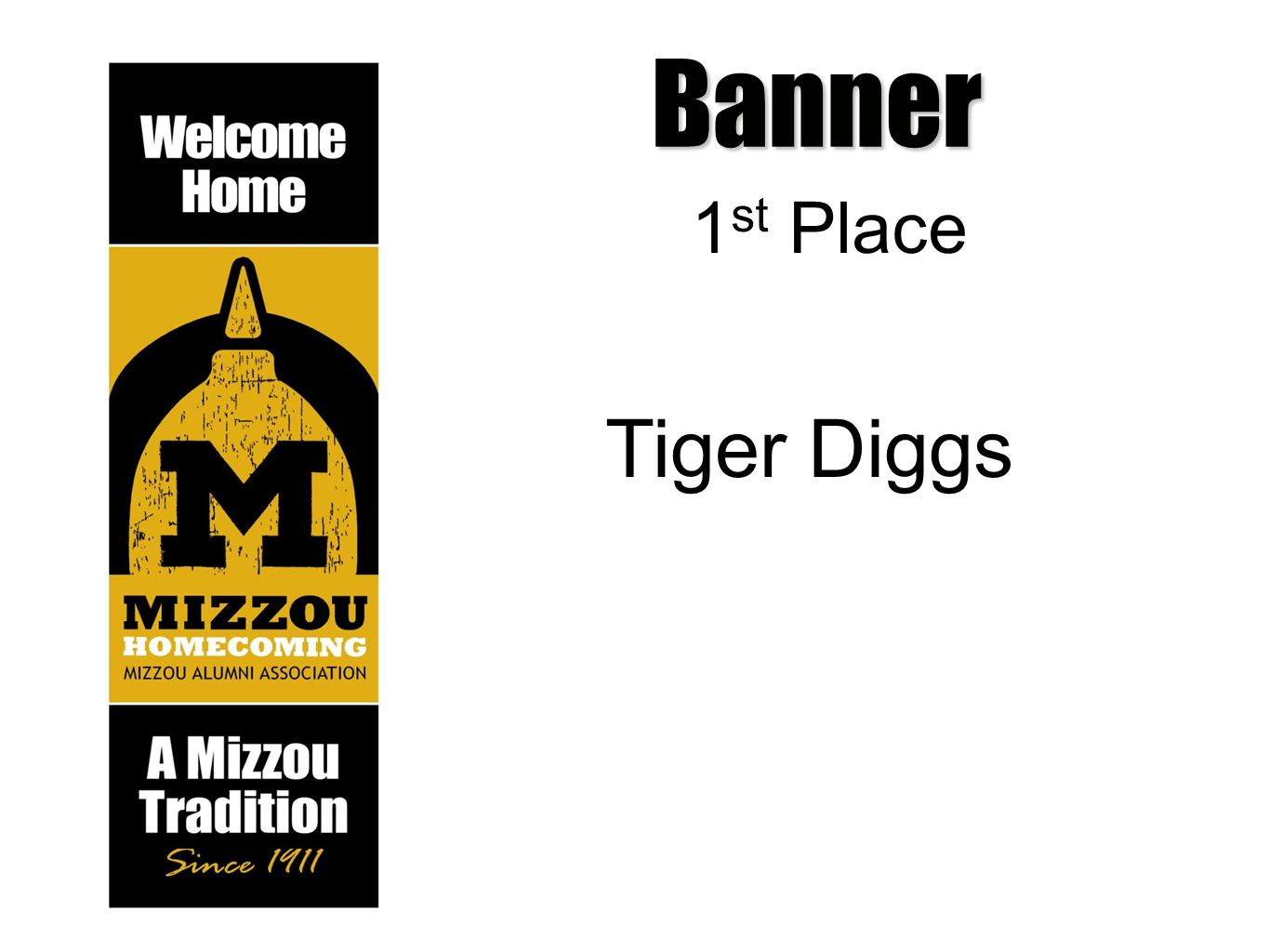 Banner 1 st Place Tiger Diggs