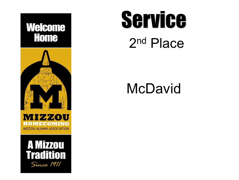 Service 2 nd Place McDavid