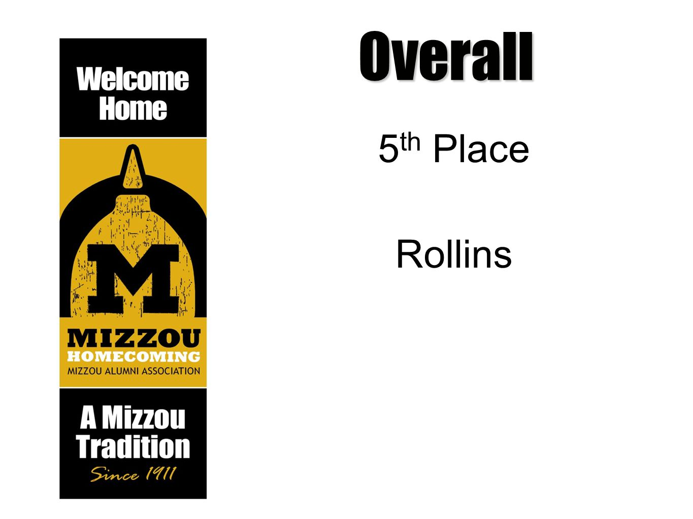 Overall 5 th Place Rollins
