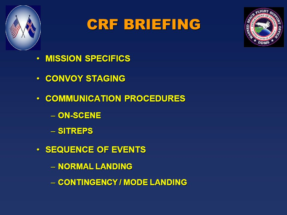 31 Jan 00 Contingency Response Force Brief