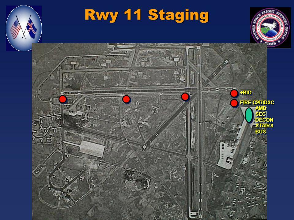 Rwy 02 Staging ODOAMBSECDECONSTAIRSBUSODOAMBSECDECONSTAIRSBUS FIRE CH / OSC +BIO+BIO