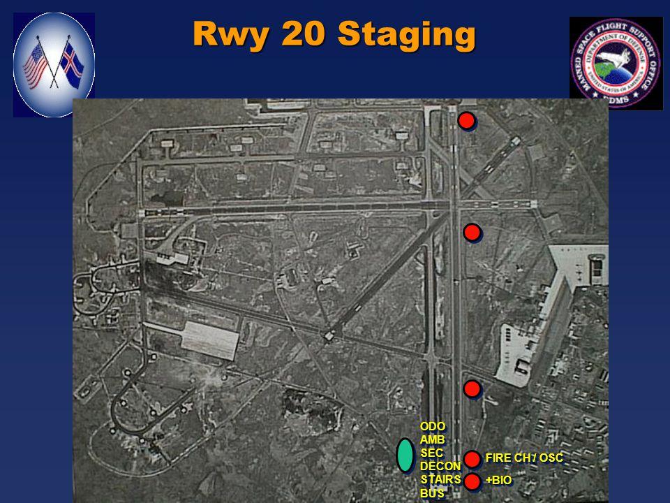 Rwy 11 Staging ODOAMBSECDECONSTAIRSBUSODOAMBSECDECONSTAIRSBUS FIRE CH / OSC +BIO+BIO