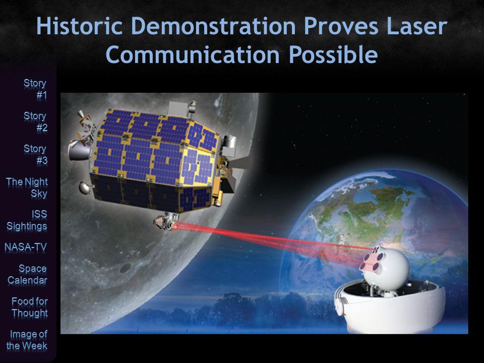 Historic Demonstration Proves Laser Communication Possible