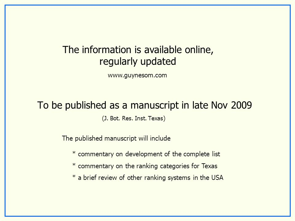To be published as a manuscript in late Nov 2009 (J.