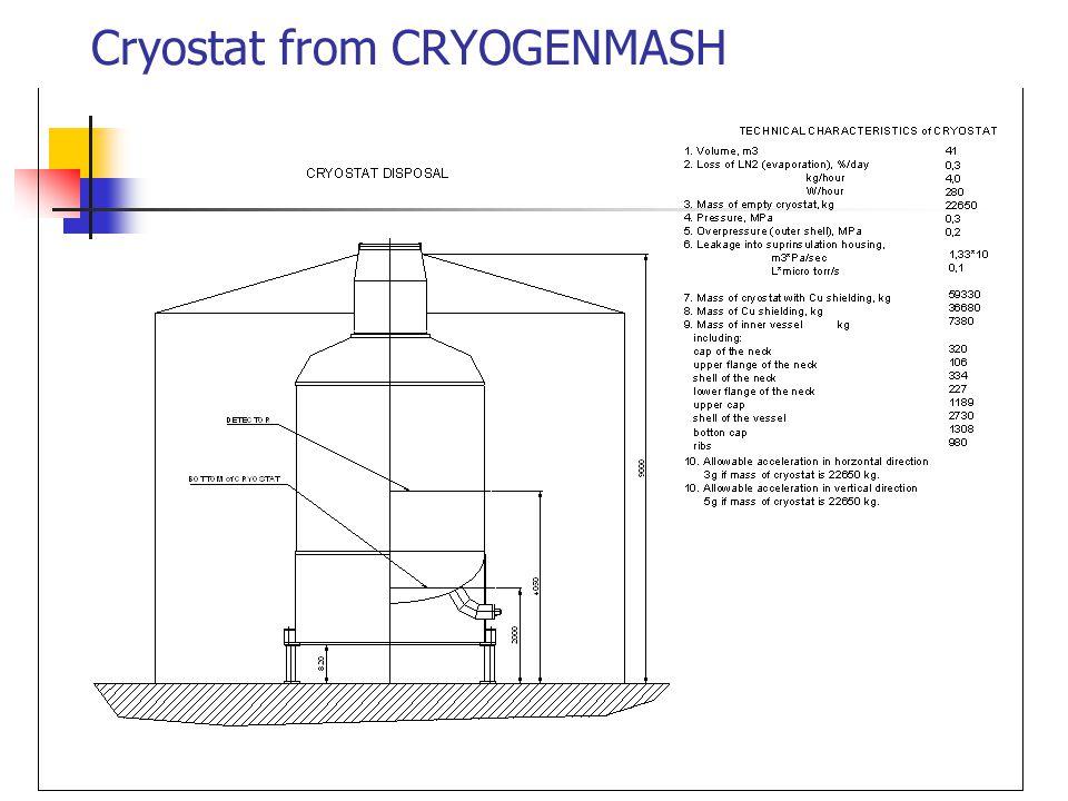 Cryostat from CRYOGENMASH