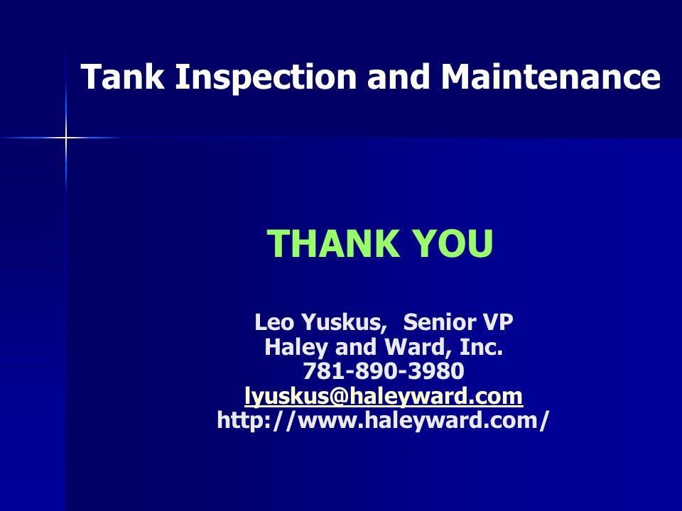Leo Yuskus, Senior VP Haley and Ward, Inc.