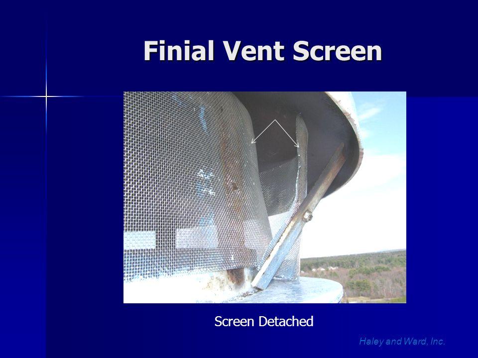 Finial Vent Screen Haley and Ward, Inc. Screen Detached
