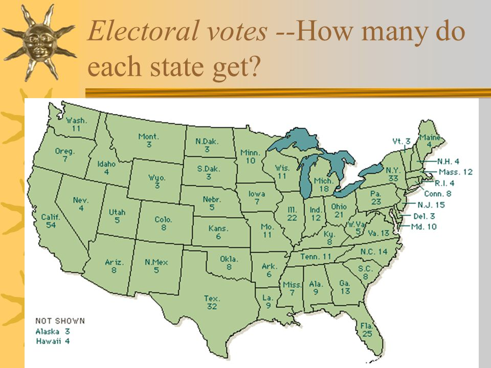 Electoral votes --How many do each state get?