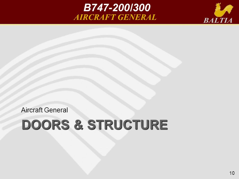DOORS & STRUCTURE Aircraft General 10