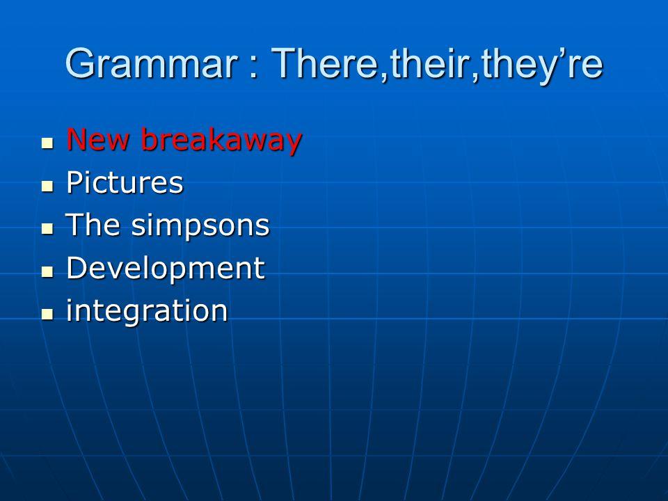 New breakaway New breakaway Pictures Pictures The simpsons The simpsons Development Development integration integration