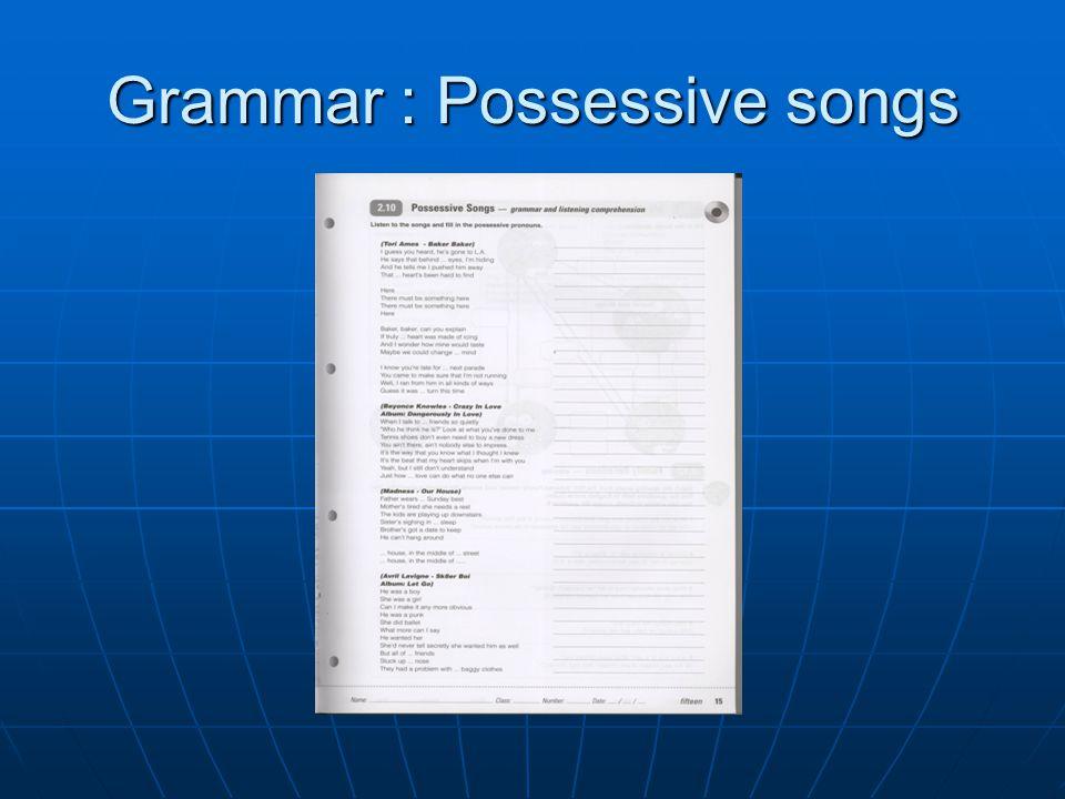 Grammar : Possessive songs