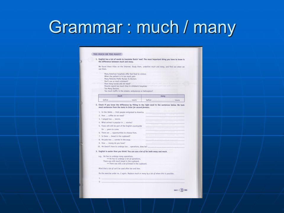 Grammar : much / many
