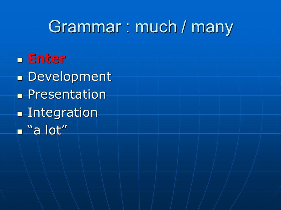 "Enter Enter Development Development Presentation Presentation Integration Integration ""a lot"" ""a lot"""