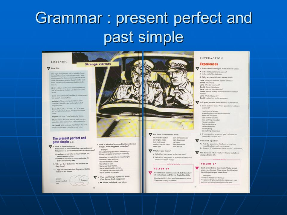 Grammar : present perfect and past simple