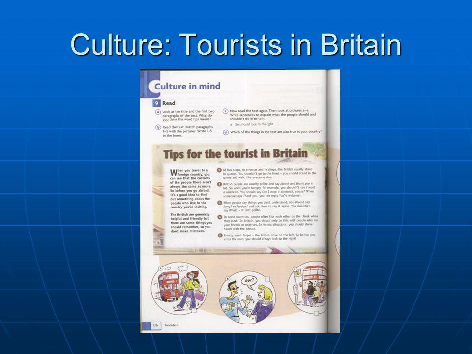 Culture: Tourists in Britain