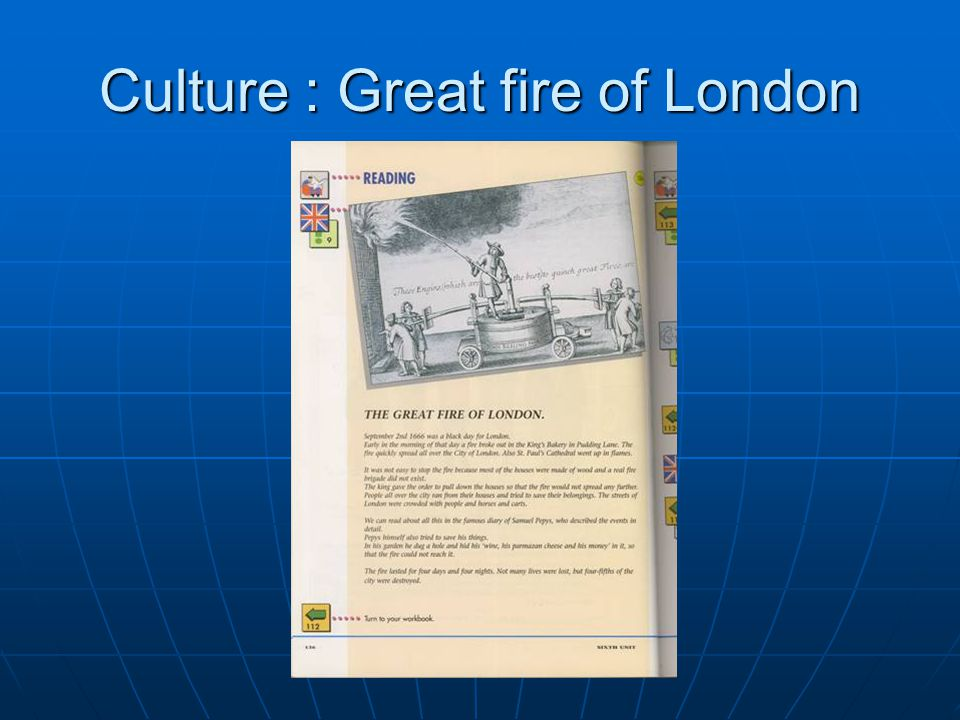 Culture : Great fire of London