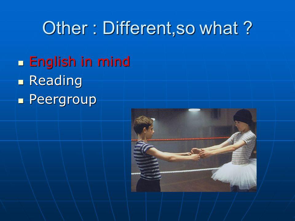 English in mind English in mind Reading Reading Peergroup Peergroup
