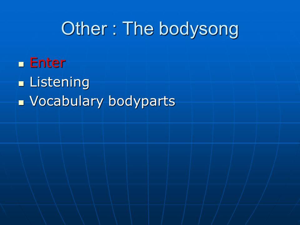 Enter Enter Listening Listening Vocabulary bodyparts Vocabulary bodyparts