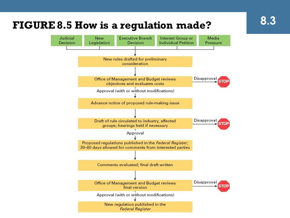 FIGURE 8.5 How is a regulation made? 8.3
