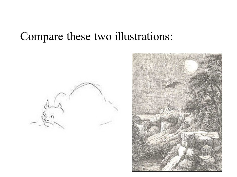 Compare these two illustrations: