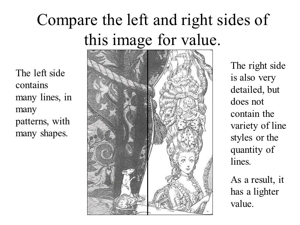 Compare the left and right sides of this image for value.