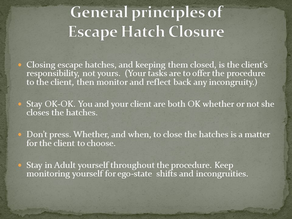 Closing escape hatches, and keeping them closed, is the client's responsibility, not yours.