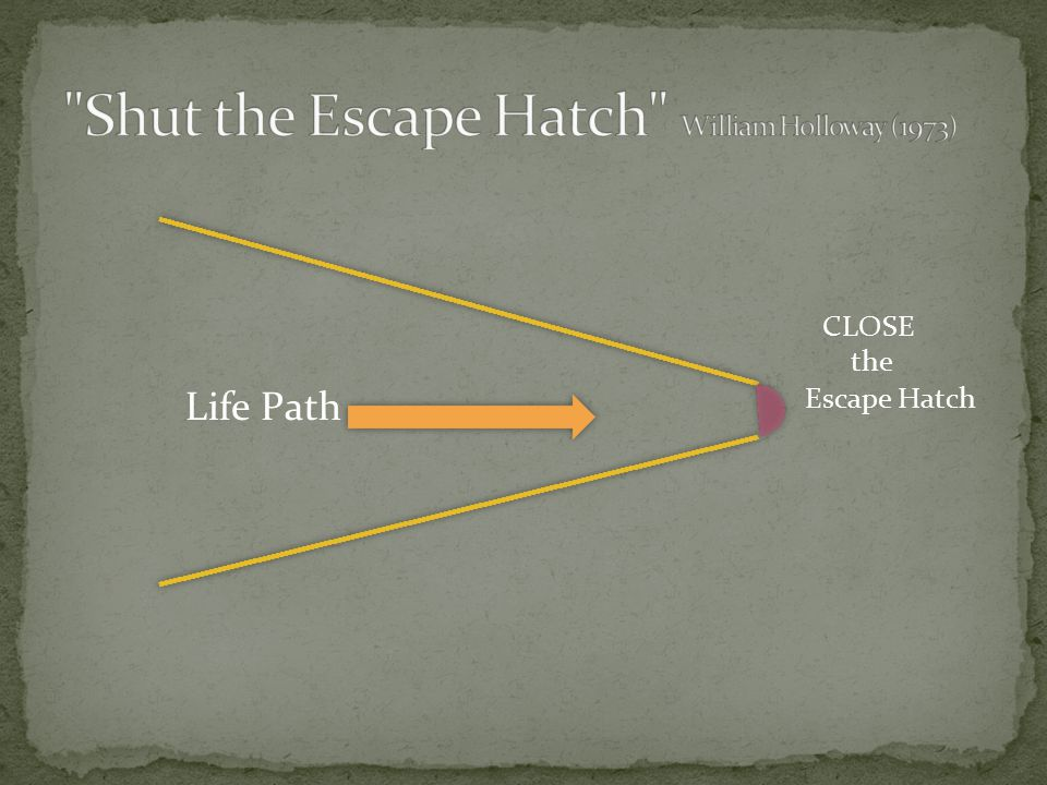Life Path Escape Hatch CLOSE the