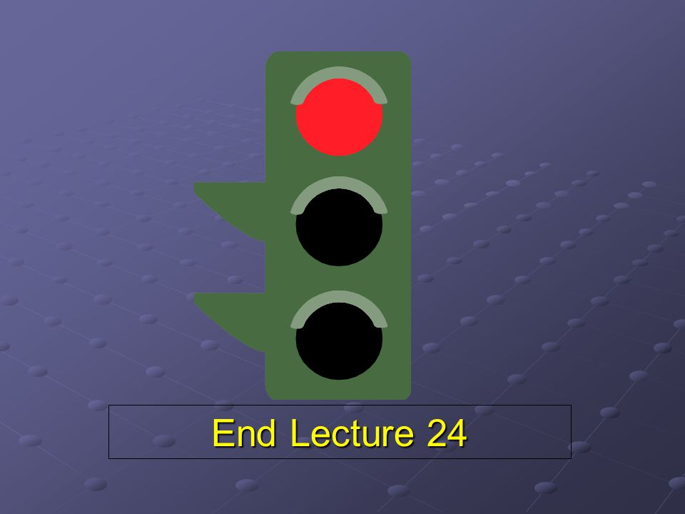 End Lecture 24